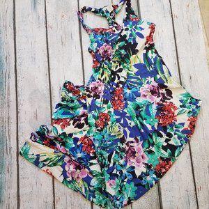 C&C California Floral Racerback Maxi Dress